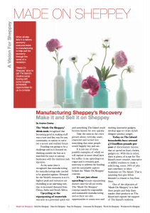 Read all about the sort of things we can get making under the Made On Sheppey initiative.